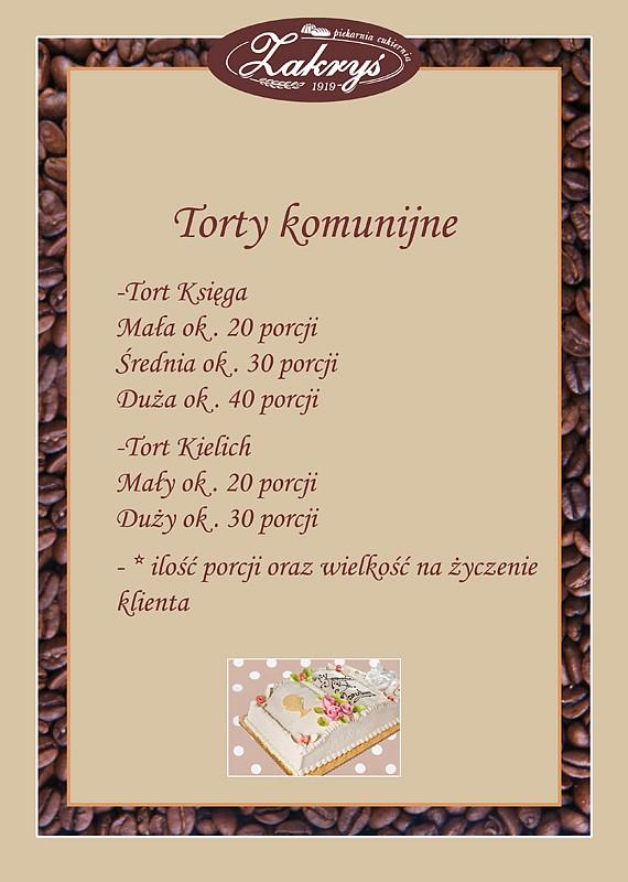 Torty komunijne